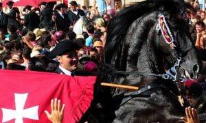 En velero a fiestas de Sant joan de Ciutadella